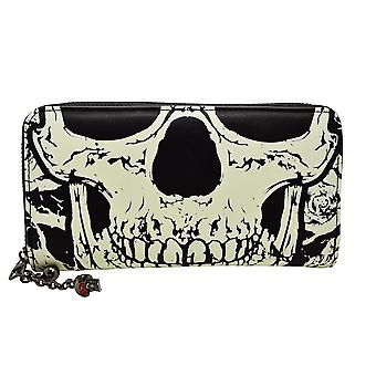 Banned Black Glow In The Dark Skull Face Wallet