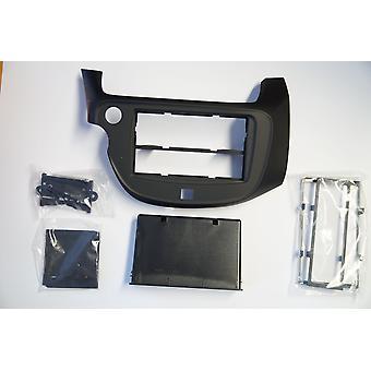 Autoradio Blende Rahmen für Honda Jazz 2009-2013 Autoradio Doppel DIN schwarz