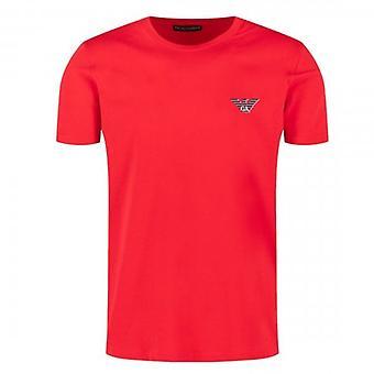 Emporio Armani Logo Stretch Unterwäsche T-Shirt Rot 110853 0P525
