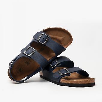 Birkenstock Milano 1018177 (reg) Mens Vegan Two Strap Sandals Navy
