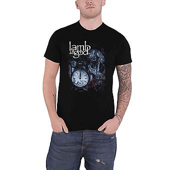 Lamb Of God T Shirt Circuitry Skull Recolor Band Logo nouveau Officiel Mens Black