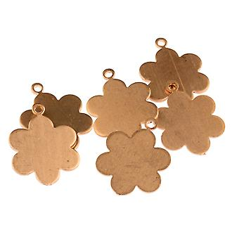 Copper Blanks Medium Daisy Hanger Pack van 6 25mm X 19mm