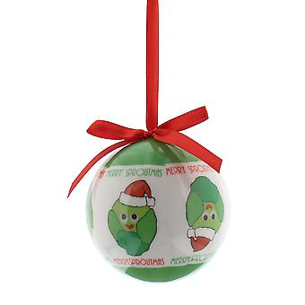 Single 8cm Merry Sproutmas Christmas Tree Bauble