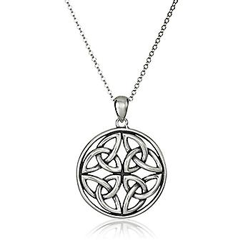 Sterling Silver Celtic Triquetra Trinity Knot Medallion, Silver, Size No Size