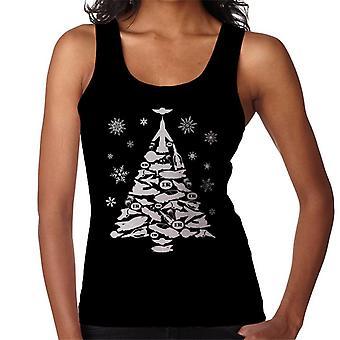 Thunderbirds pictogram kerstboom vrouwen ' s vest