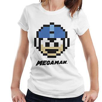 Mega Man Pixel Face Women's T-Shirt
