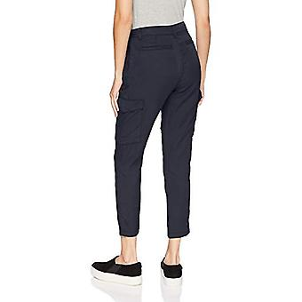 Brand - Daily Ritual Women's Tencel Patch Pocket Cargo Pant, Navy, 12