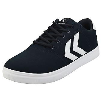 hummel Essen Mens Casual Trainers in Navy White