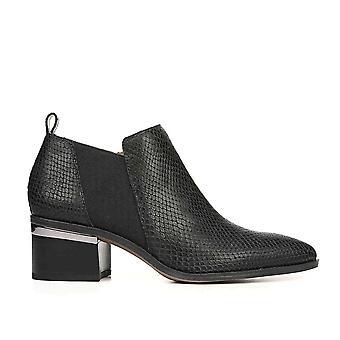 Franco Sarto Womens Arden leer gesloten teen enkel mode laarzen