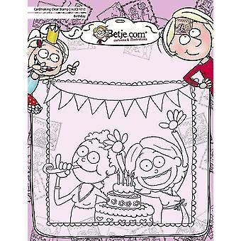 Aurelie Betje Syntymäpäivä Cardmaking Selkeä Leima