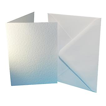 Craft UK Premium Collection Cards & Envelopes A6 White Hammered
