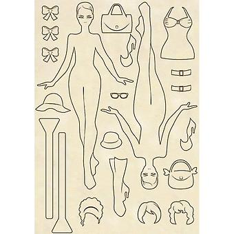 Wooden Shapes A5 Wilma Doll (KLSP039)