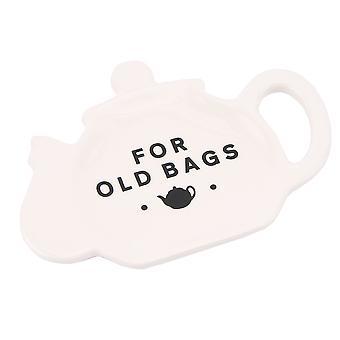 Pour vieux sacs humoristiques Cermic Tea Bag Holder - Cadeau en boîte
