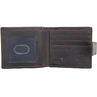 Primehide Mens Leather Wallet RFID Blocking Large Coin Pocket Gent Notecase 4224