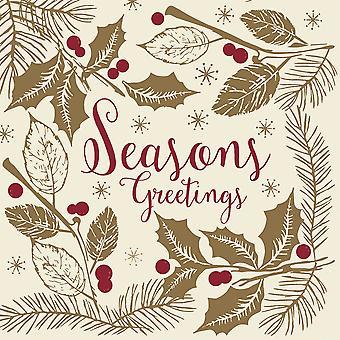 Swantex Seasons Greetings Christmas Napkins 2 Ply 33cm