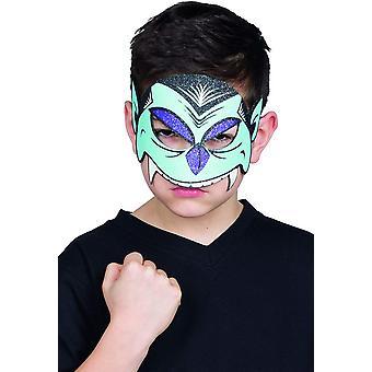 Glitter Mask Vampire Child Eye Mask Drakula Halloween fél maszk