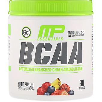 MusclePharm, Essentials, BCAA, Fruit Punch, 0.57 lbs (258 g)