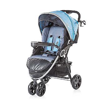 Chipolino barnvagn Aldo, hopfällbara, taklucka, fotbag, 3 hjul