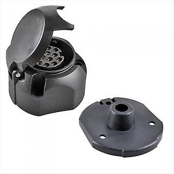 Steckkasten 13-polig PVC Jaeger + Dichtung Gummi schwarz