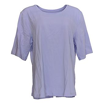 Denim & Co. Women's Top Essentials Elbow Sleeve Purple A302899