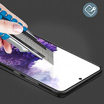 High Strength 9H + Shockproof Screen protector for Samsung S20 Plus - Black