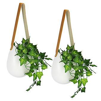 Jardineras de pared colgantes de cerámica - Juego de 2 | M&W