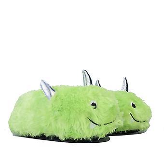 Women's Brave Soul Monster Slippers en vert