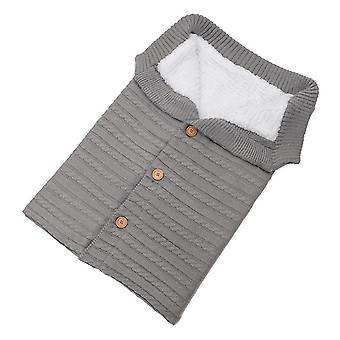 Newborn Baby Woolen Sleeping Bag, Stroller Knitted Sleep Sack Swaddle