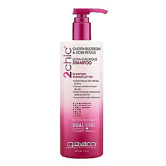 Giovanni Cosmetics 2chic Ultra Luxurious Shampoo Cherry Blossom & Rose Petals, 24 Oz