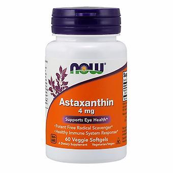 الآن الأطعمة Astaxanthin، 4 ملغ، 60 كبسولات الخضار سوفتجيلس
