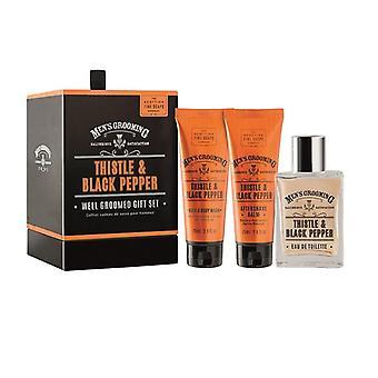 Giftset Scottish Fine Soaps Thistle & Black Pepper Well Groomed Gift Set
