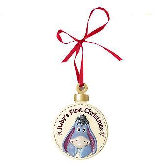 Disney Eeyore Baby's First Christmas Hanging Decoration
