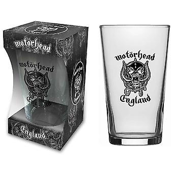 Motorhead ölglas England band logo Warpig ny officiell boxed
