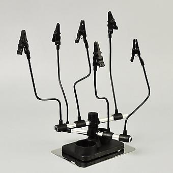 Metal Alligator Clip Stand-magnetic Holder With Flexible Rods