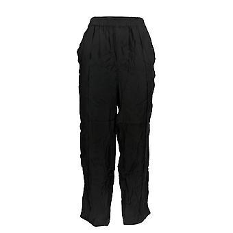 WynneLayers  Women's Pants Malibu Cropped Pull-On Black 652-169
