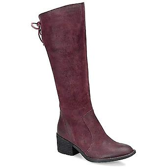 BORN Femmes Felicia Distressed Suede Leather Tall Boots