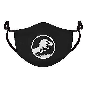 Jurassic Park Face Mask T Rex Logo new Official Black Adjustable Shaped Reusable