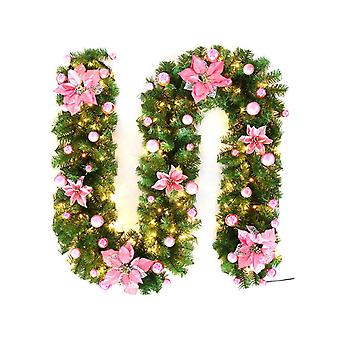 2,7 M Kerst LED Rattan Garland Decoratieve Groene Kerst garland kunstmatige xmas boom rattan banner decoratie