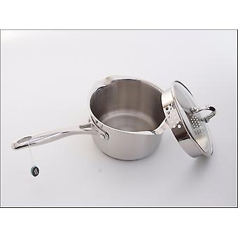 Stellar 7000 Saucepan Stainless Steel 16cm with Drain Lid S705D