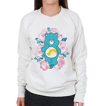Pflege Bären Wunsch Bär rosa Blumen Frauen's Sweatshirt