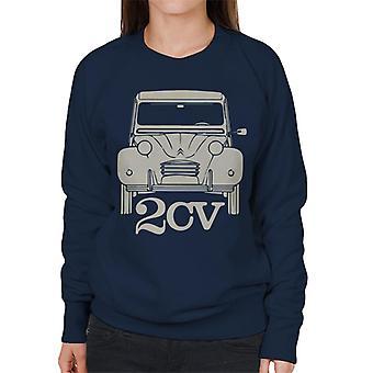 Citroen 2CV för mörk kvinnors sweatshirt