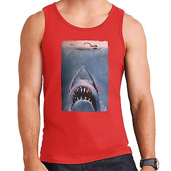 Jaws Classic Poster Stalking Prey Men's Vest