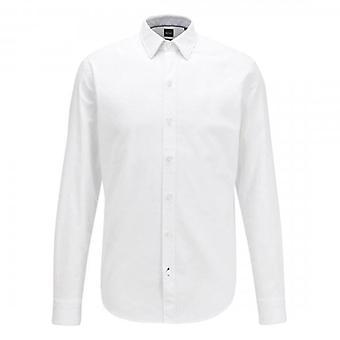 Hugo Boss Robbie_53E Long Sleeve Oxford Stretch Shirt White 100 50438496