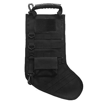 Tactical Molle Christmas Stocking Tree Hanging Ornament, Waterproof Zipper