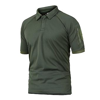Combat Woodland Tactical Shirt Short Sleeve Hunting gecamoufleerd Large Size Army