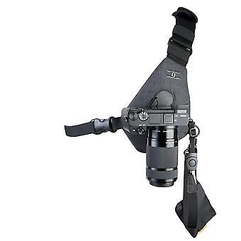 Βαμβάκι μεταφορέας skout σφεντόνα στυλ λουρί για μία φωτογραφική μηχανή - γκρι