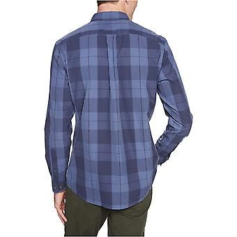 Goodthreads Men's Standard-Fit Long-Sleeve Plaid Poplin Shirt with Button-Dow...