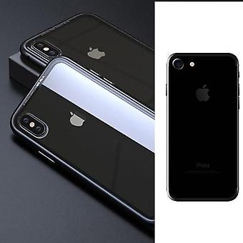 Custodia per paraurti per telefono trasparente con cerchi in metallo nero per Iphone 7