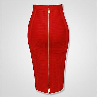 高品質ジッパーボディコンレーヨン包帯スカートデイパーティー鉛筆