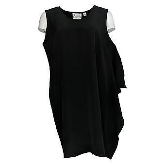 Linea de Louis Dell'Olio Petite Vestido sin Mangas w/Cascade Negro A302556